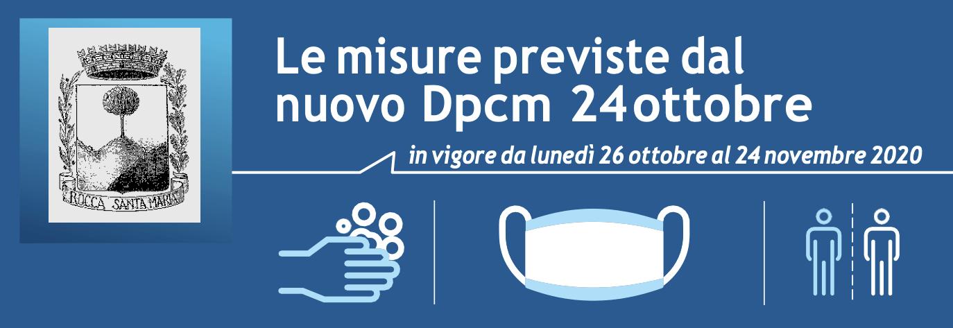 Le misure previste dal nuovo Dpcm 24 ottobre